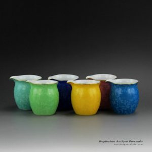 RZDD31_Needle Painted Flower Tea Fair Cups