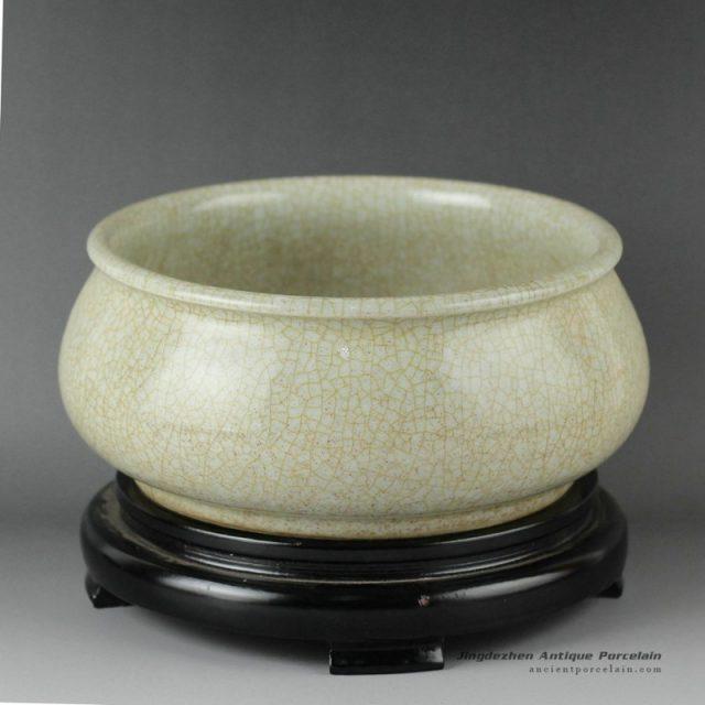 RZDF03_Crackle porcelain fish bowl
