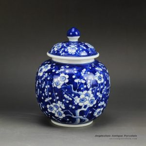 RZDI04_Small size winter sweet hand paint JDZ China Qing dynasty porcelain honey jar