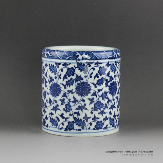 RZDY01_Blue and white ceramic pen holder