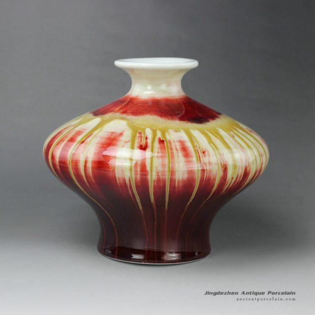 RZEO01_10″ Jingdezhen porcelain vase transmutation glazed