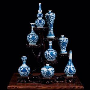 RZEV02_tiny fancy hand painted floral ceramic display vase