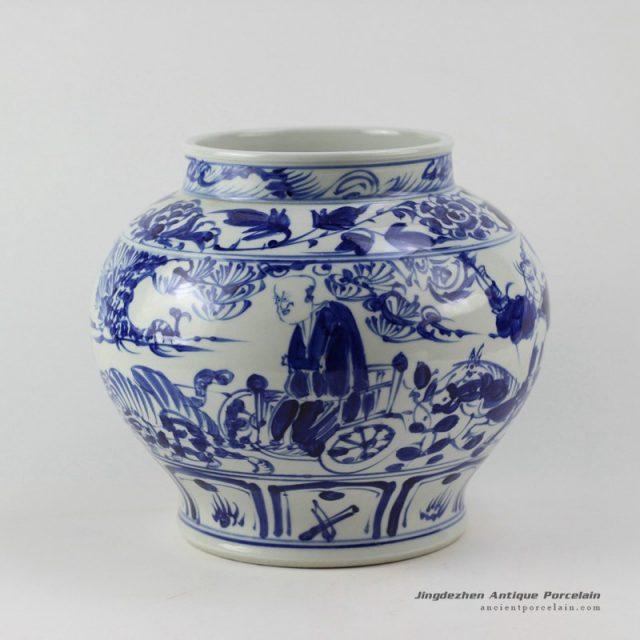 RZEZ02-F_High quality reproduction Guigu zi design blue and white Ming Porcelain Jar