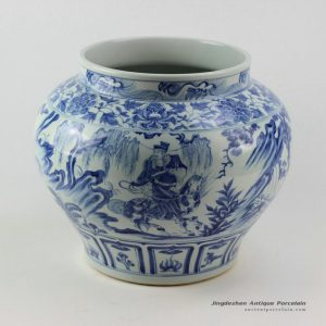 RZEZ03_blue and white Ming reproduction Porcelain Jars Xiaohe chase Hanxin design