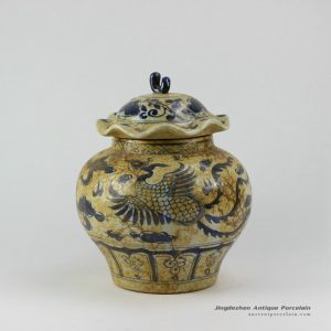RZEZ08_11.5″ Antique finished Ming Reproduction blue and white Jars