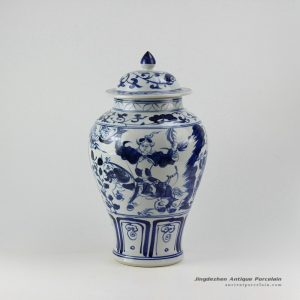 RZEZ10_16″ Ming Reproduction blue and white Guigu zi ginger jar