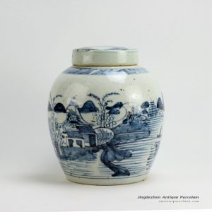 RZFB04_H10.5″ Jingdezhen blue and white jars