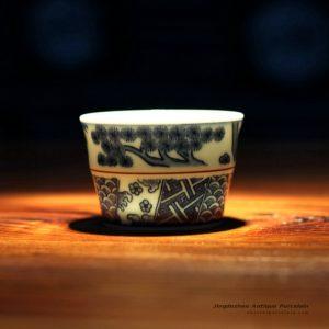 RZFG01-B_Jingdezhen Handmade Japaness style Blue White Tea Cups
