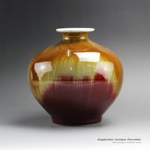 RZFJ01_8.5″ High temperature Transmutation Glazed Ceramic Vase