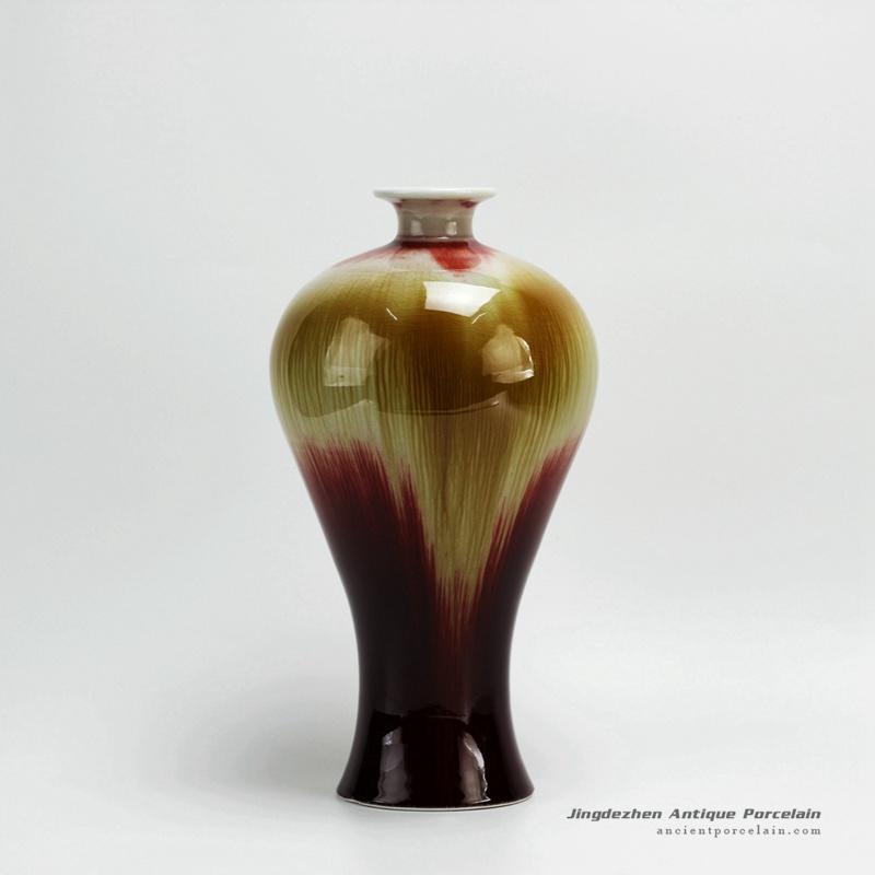RZFJ02_High temperature Transmutation Glazed Ceramic Vase