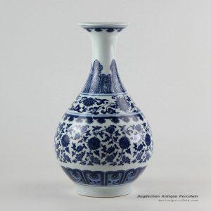 RZFU06_blue and white okho spring jar floral vase