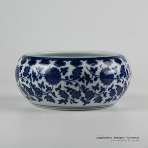 RZFU12-A/B_Cheap online price blue and white ceramic floral water pot