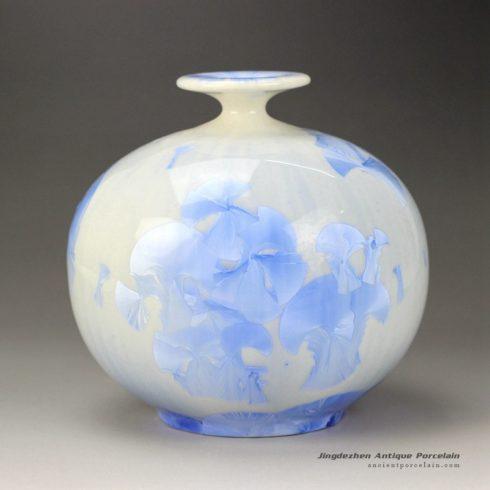 RZGW01-B_Photochromic crystaline glaze round abdomen autumn style ceramic vase