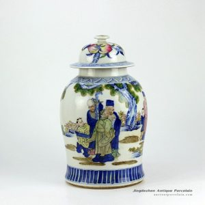RZHD01_famille rose hand paint chinese traditional pattern ceramic ginger jar