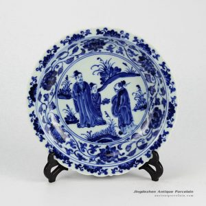 RZHL04-A_Elegant blue and white hand painted ceramic serving dishes