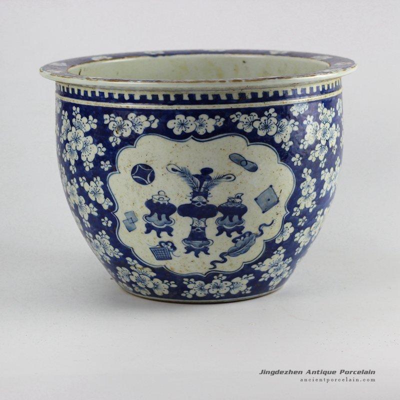 RZHZ01-B_Antique hand paint blue and white chinaware indoor ceramic planter