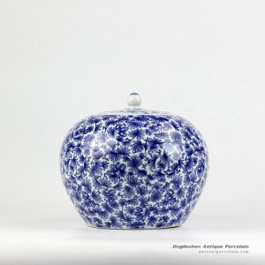 RZIX02_Blue and white promotional ceramic cookie jar