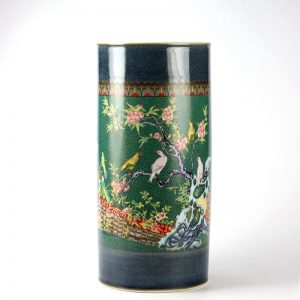 RZJB01_Floral bird pattern ceramic umbrella stand