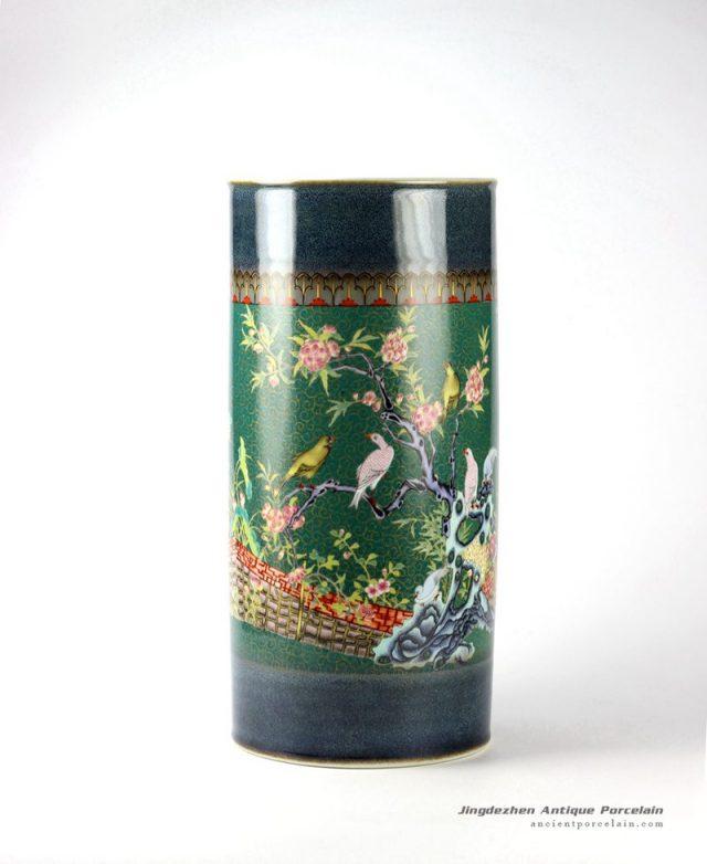 RZJB01_Floral bird pattern ceramic umbrella stand