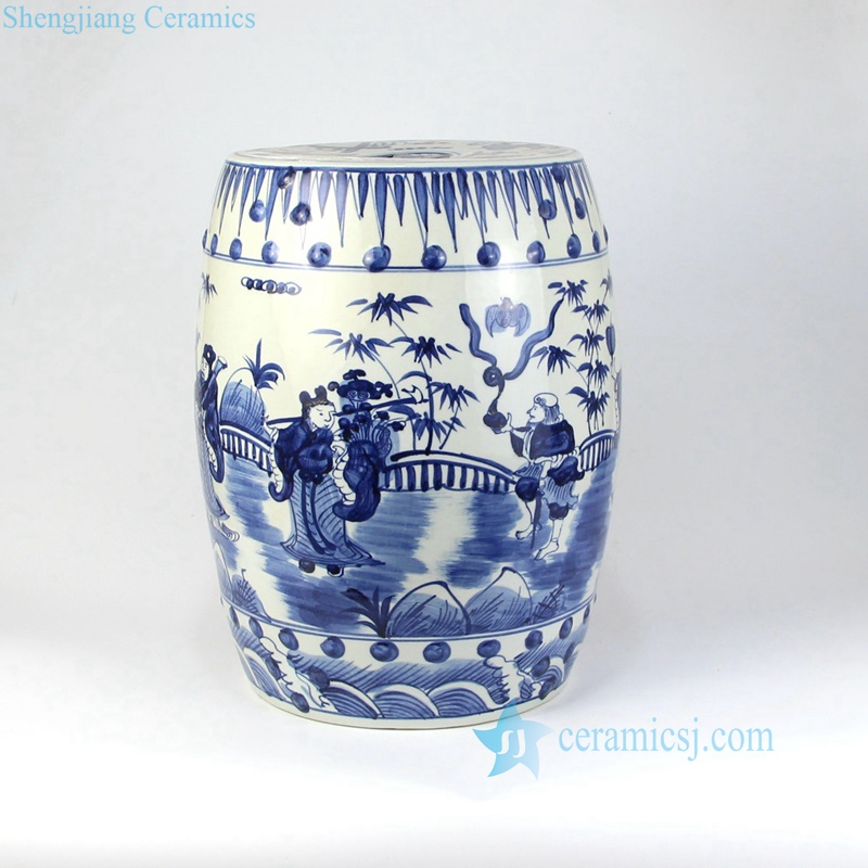 Magnificent Rzma12 Chinese Antique Blue And White Hand Painted Garden Pabps2019 Chair Design Images Pabps2019Com