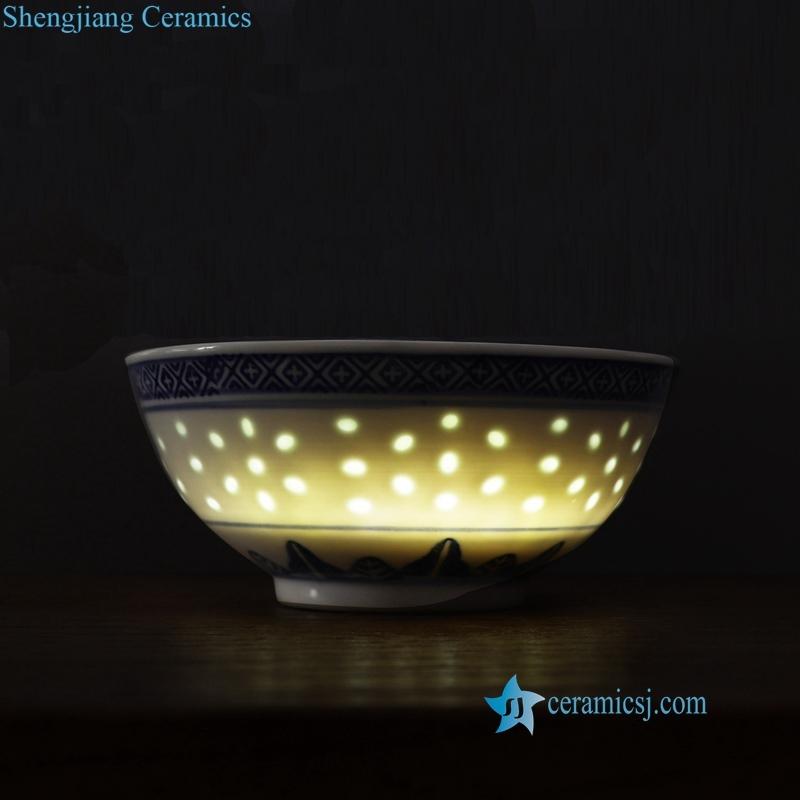 jingdezhen linglong mitong blue and white porcelain dargon