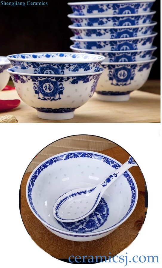 jingdezhen linglong mitong blue and white ceramic