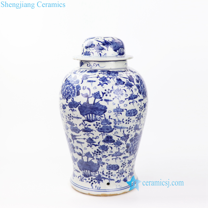 lotus porcelain jar body lamp