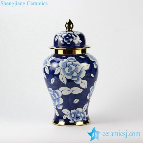 flowers pattern ceramic jar