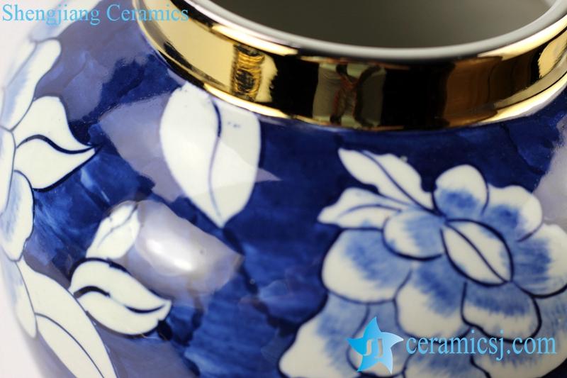 camellia porcelain jar