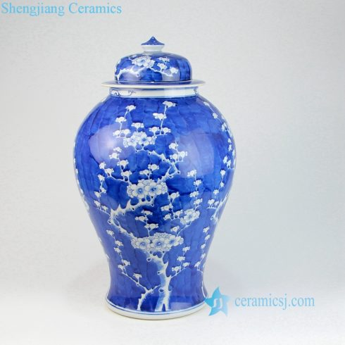 cherry blossom ceramic jar