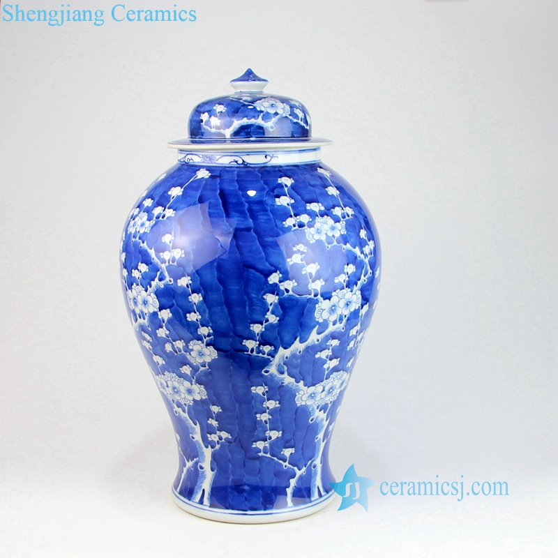 cherry blossom ceramic jar