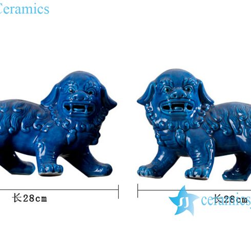 ceramic lion figurine