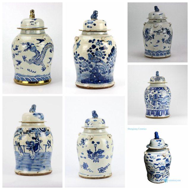 antique dragon jar