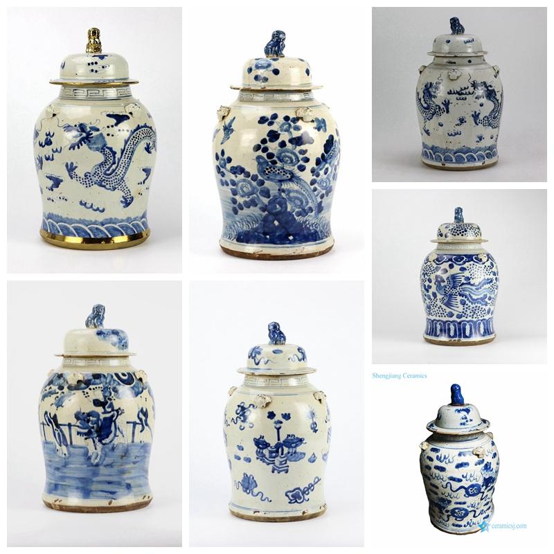 antique finish jar