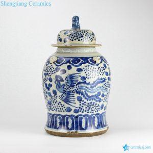 phoenix ceramic jar