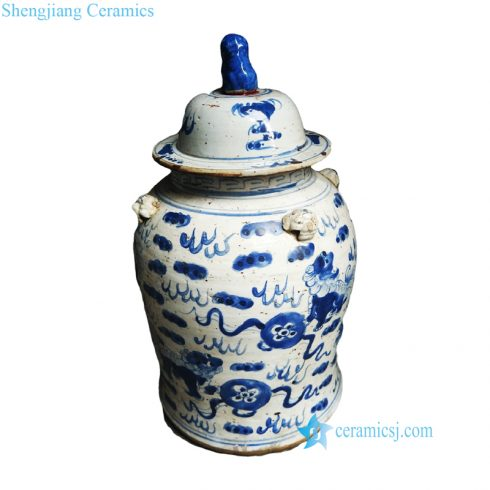 old ceramic jar
