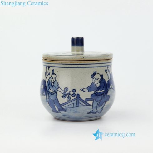 China ancient farmer life ceramic jar