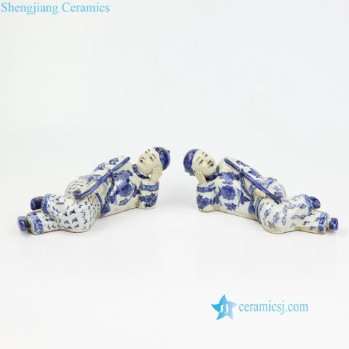 laying man porcelain figurine