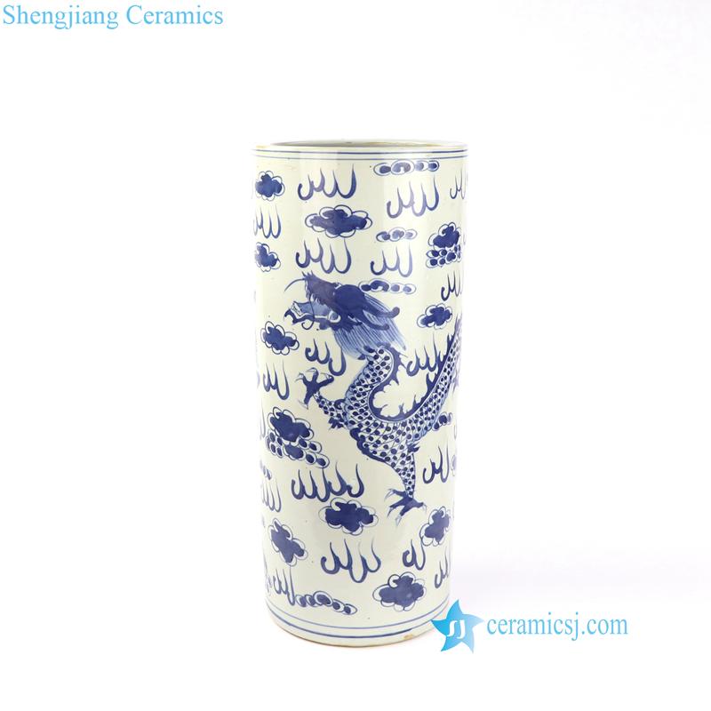 dragon umbrella stand porcelain material