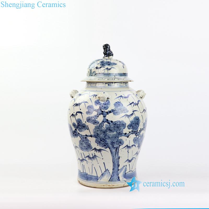 pine ceramic jar