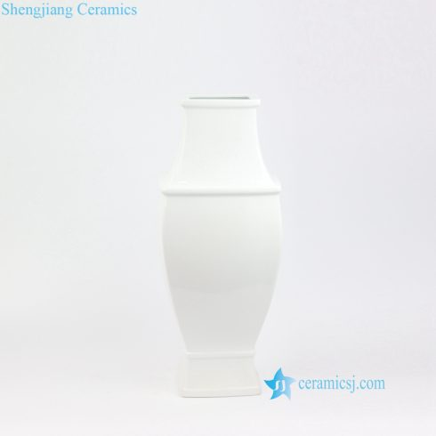 plain white porcelain vase