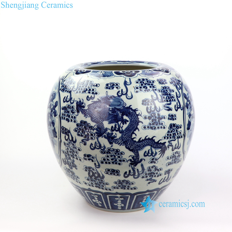 bird dragon ceramic vase