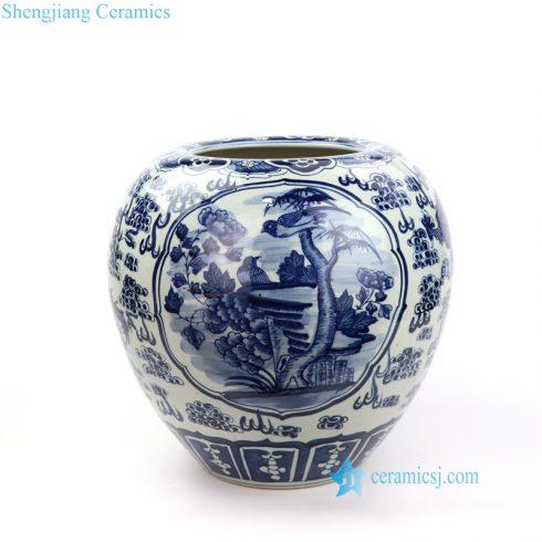 bird dragon ceramic vase