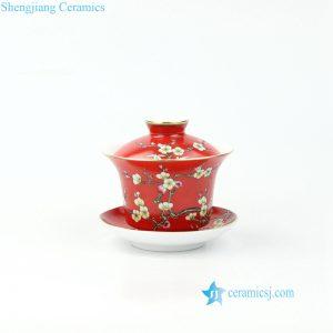 needle painting ceramic gaiwan