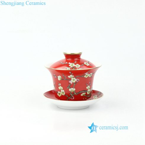 needle painting ceramic gaiwan