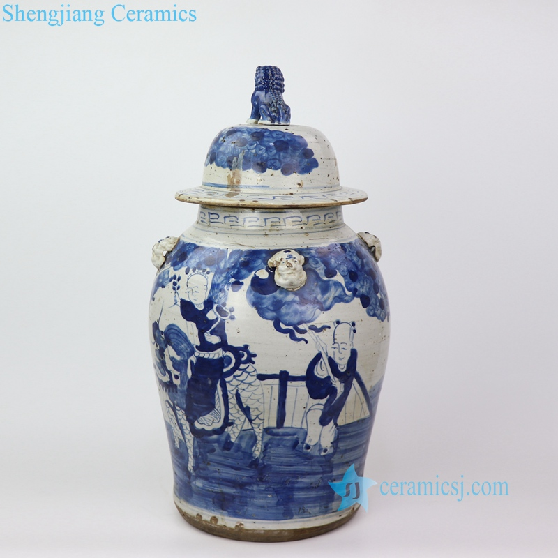 immortal pattern handmade ceramic jar