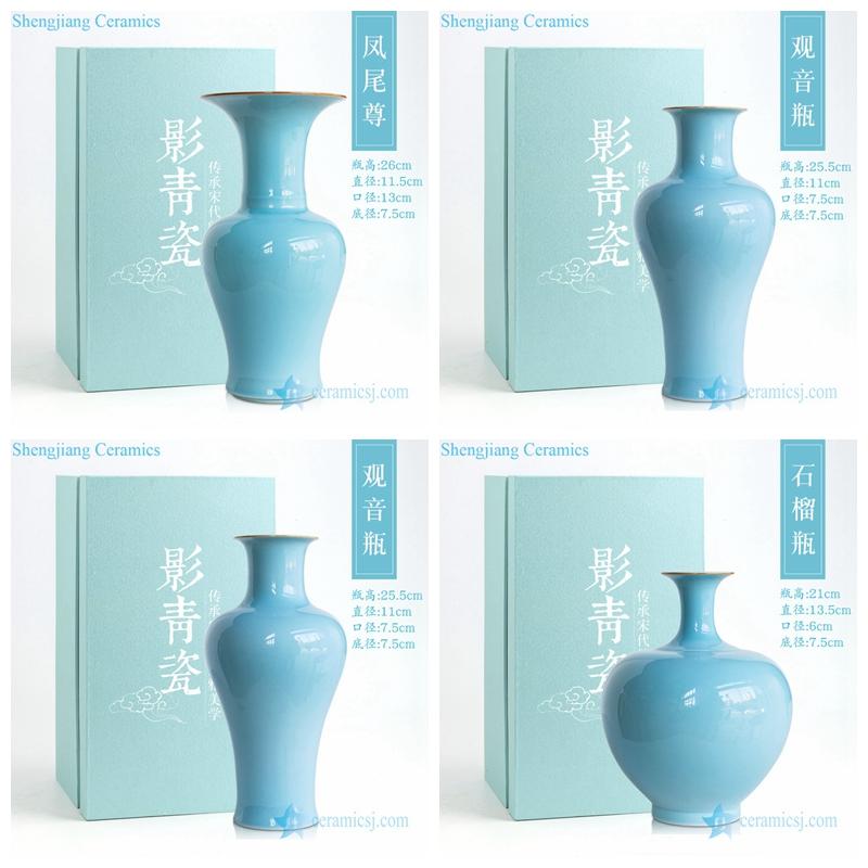 shape of shadow blue vase