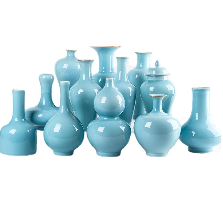 shadow blue vase