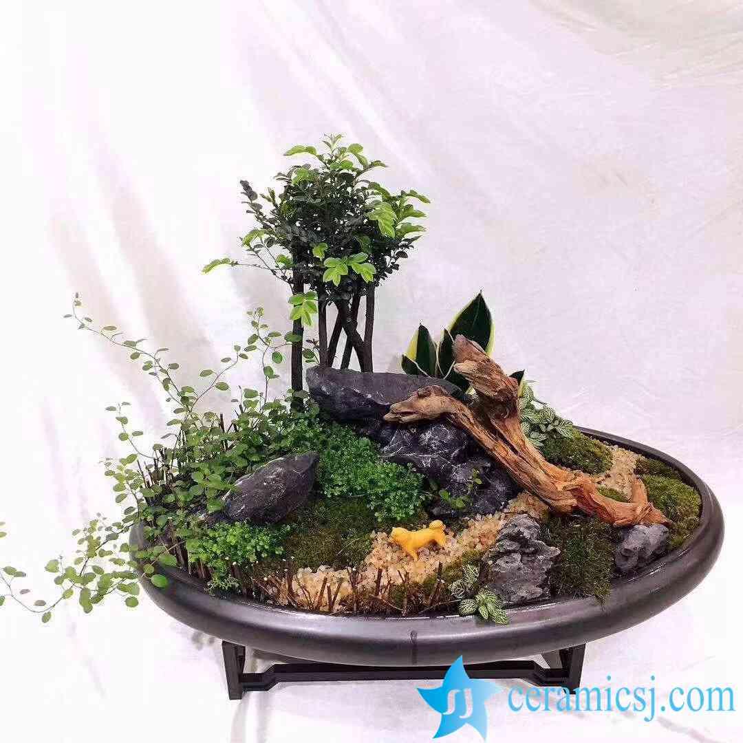 art ceramic flowerpot