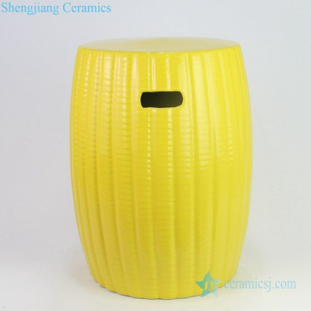 Corn grain chinese style ceramic stool